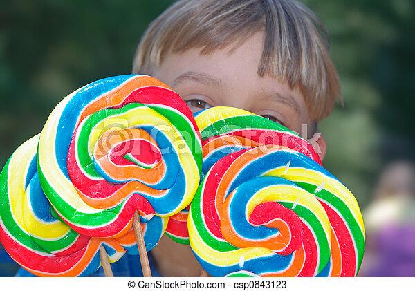 boy with lollipops - csp0843123