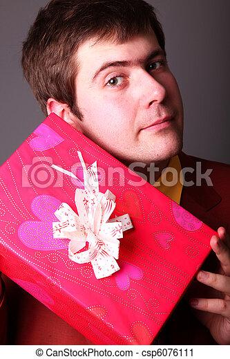 Boy with present box - csp6076111