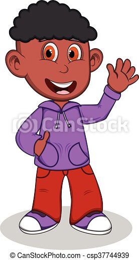 Boy with purple jacket - csp37744939