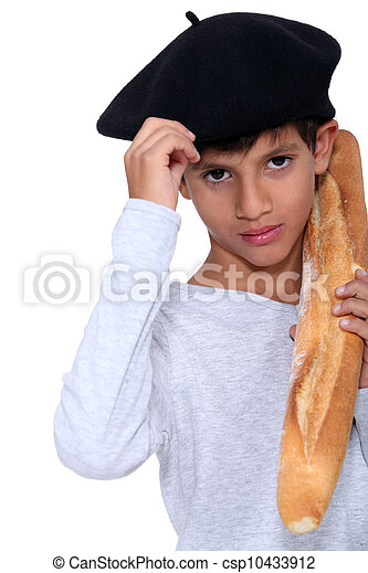 boy with slice of bread - csp10433912