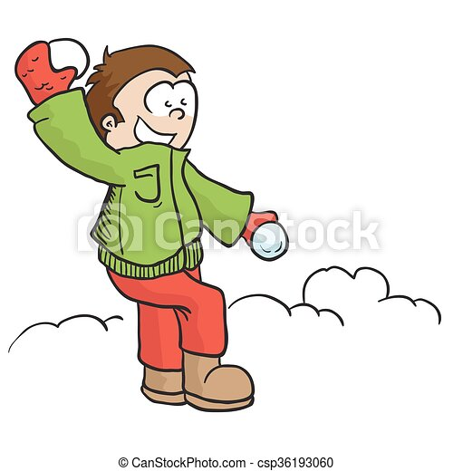 boy with snowball boy throwing snowball cartoon clip art vector rh canstockphoto com snowball clipart images snowball clipart free