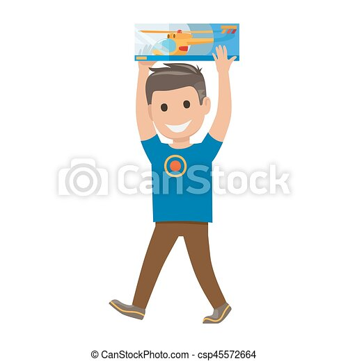 Boy with Toy Illustration. Shopping Collection - csp45572664