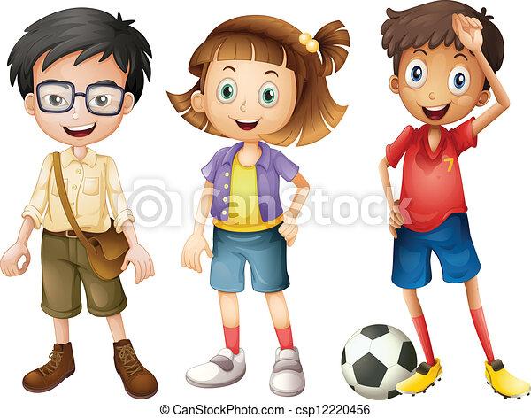 Boys and a girl  - csp12220456
