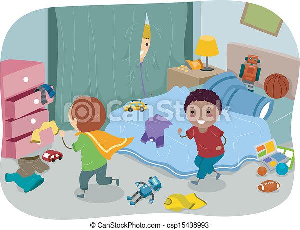 boys bedroom clipart. boys room csp15438993 bedroom clipart f