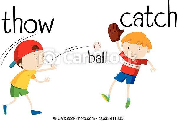 Boys Throwing And Catching Ball