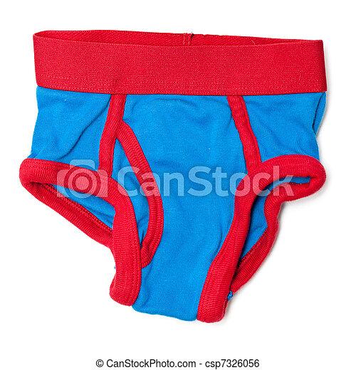 Boys underwear. Boys red and blue underwear.