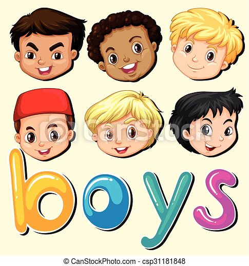 Boys with happy face - csp31181848
