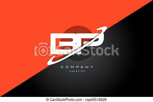 Bp B P Red Black Technology Alphabet Company Letter Logo Icon Bp