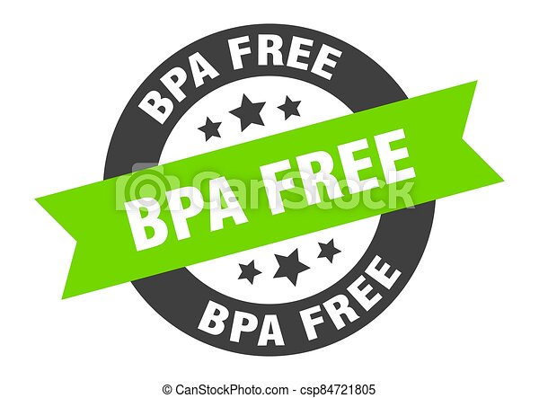 bpa free sign. round ribbon sticker. isolated tag - csp84721805
