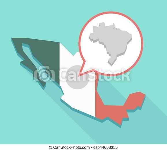 Bresil Mexique Carte.Bresil Carte Ombre Long Mexique