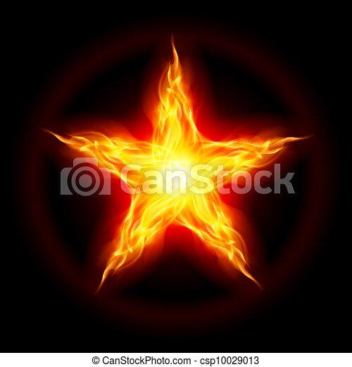 brûler, étoile - csp10029013