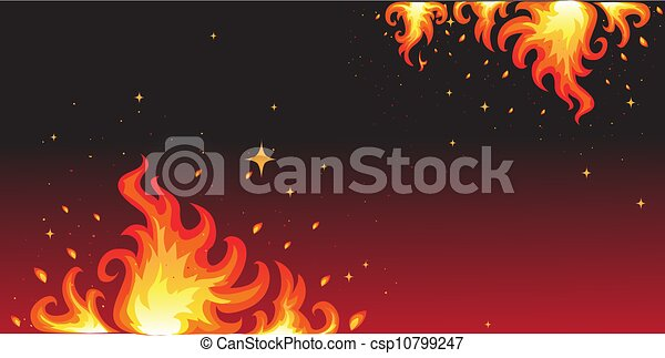 brûler, chaud, bannière, fond - csp10799247