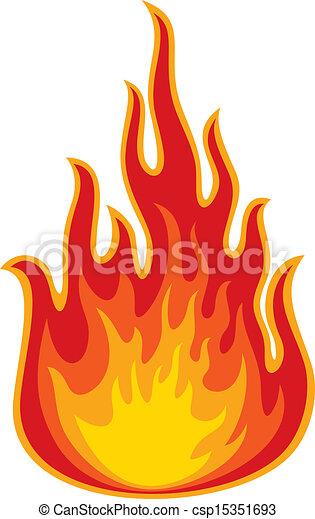 brûler, (flame) - csp15351693