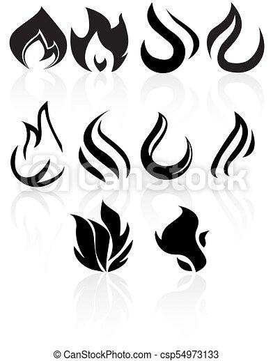 Brûler Flame Noir