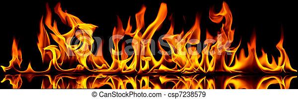brûler, flames. - csp7238579