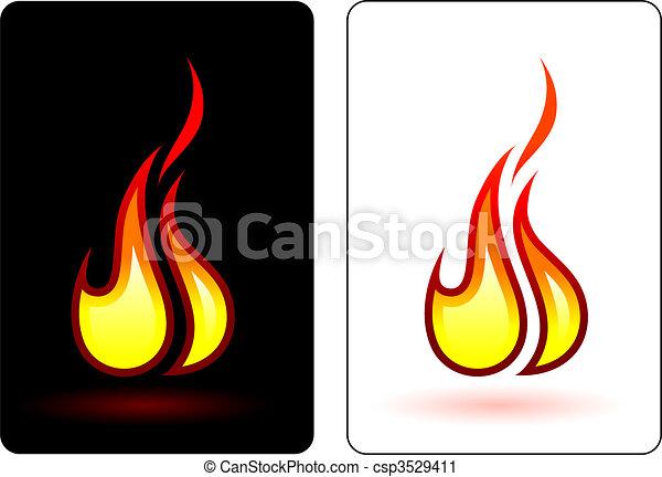 brûler, flamme - csp3529411