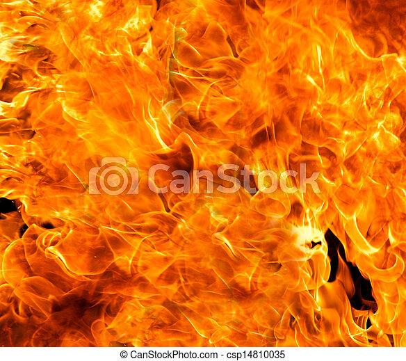 brûler, flamme, fond - csp14810035
