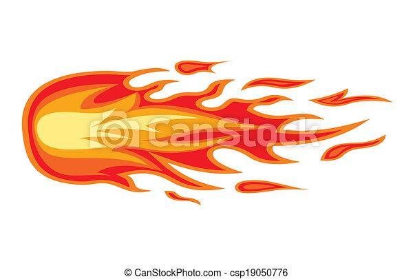 brûler, flamme - csp19050776
