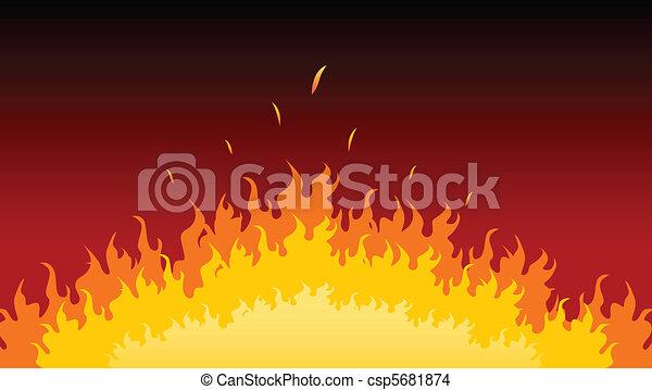brûler, flammes, brûlé - csp5681874