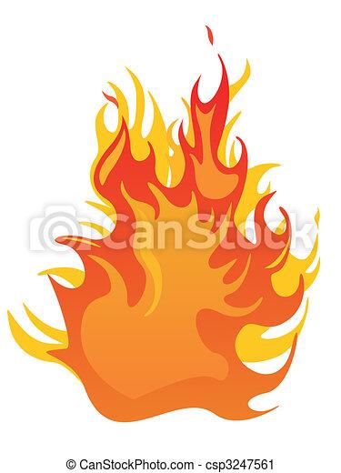 brûler, -, flammes - csp3247561