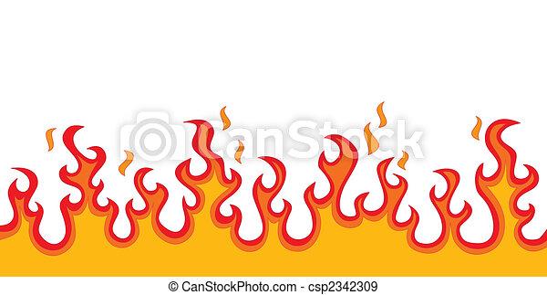 brûler, flammes - csp2342309