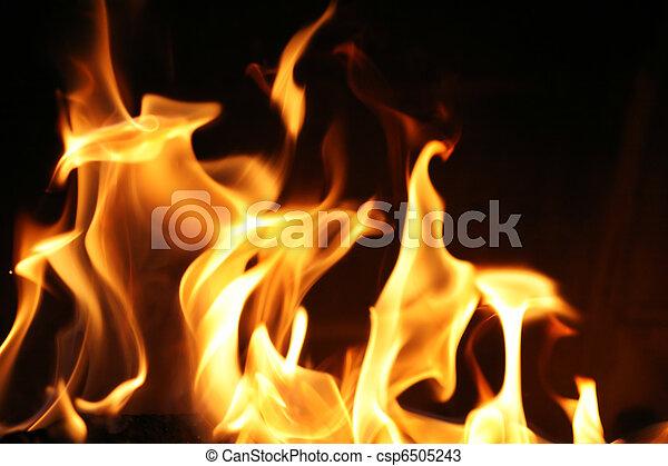 brûler, flammes, fond, texture - csp6505243