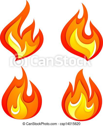 brûler, flammes - csp14015620