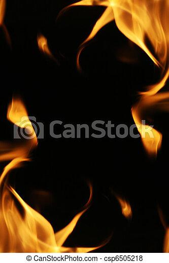 brûler, flammes, texture., fond, cadre - csp6505218