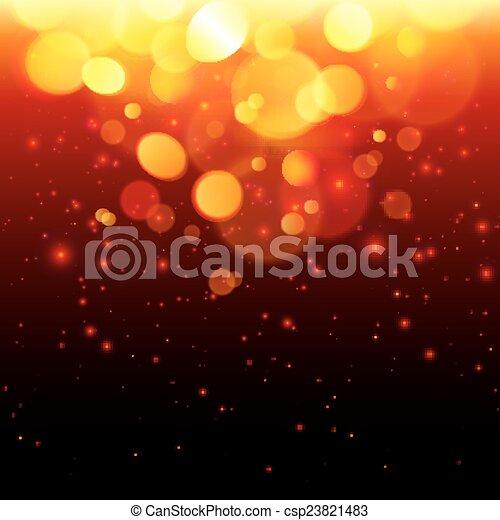 brûler, résumé, clair, effet, bokeh, fond - csp23821483