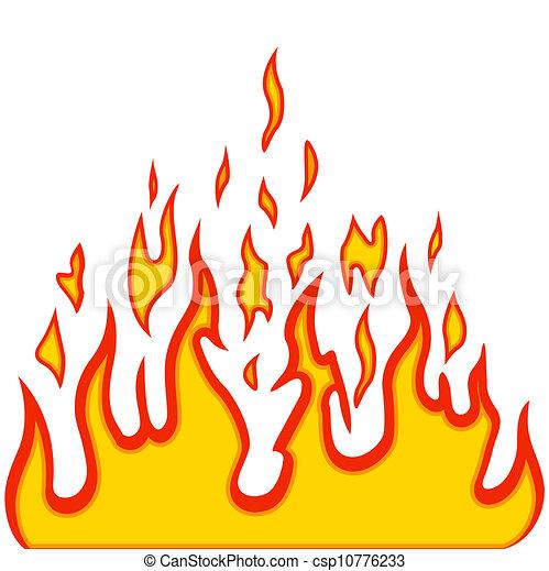 brûler, vecteur, brulure, flamme, fond - csp10776233