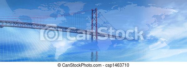 brücke, über, world... - csp1463710