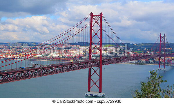 Lissabon Fluss brücke aus fluß tagus lissabon brücke fluß meisten