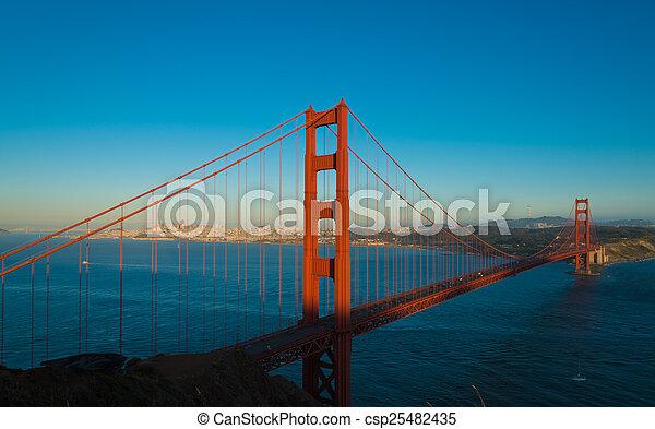 brücke, francisco, san, goldenes, berühmt, kalifornien, tor - csp25482435