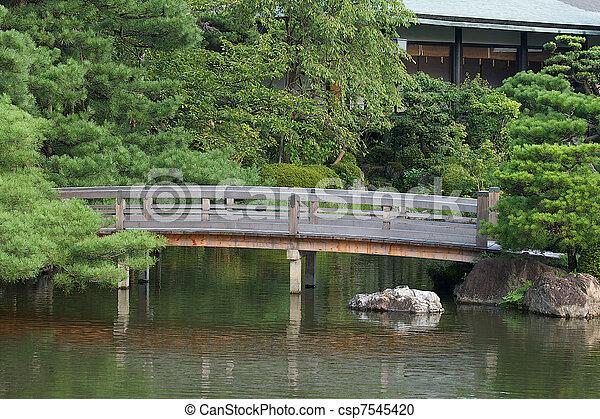 Brücke Japanischer Garten Brücke Kleingarten At Kyoto Bild