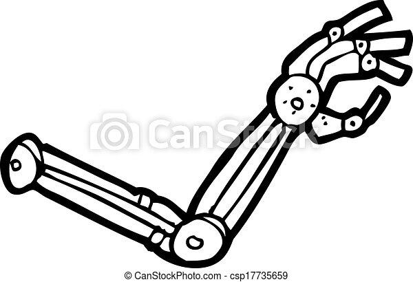 braço robô, caricatura - csp17735659