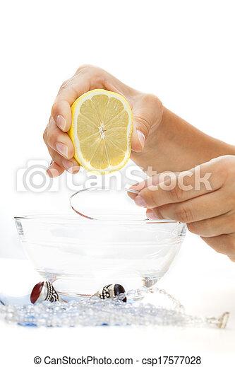 braccialetto, limone, bagno - csp17577028