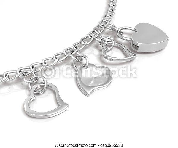 Bracelet of hearts - csp0965530