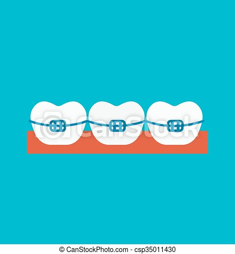 Braces  illustration - csp35011430