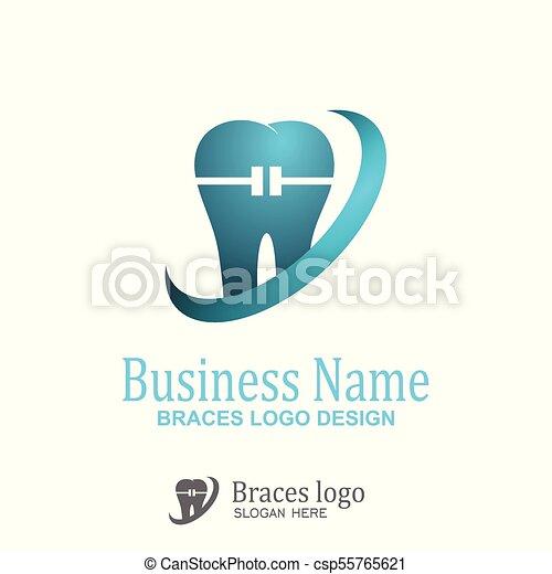 Braces logo design. - csp55765621
