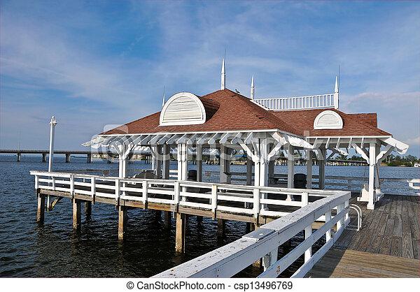 Bradenton Beach Historic Pier - csp13496769