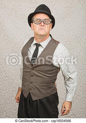 bragging, óculos, homem - csp16504566