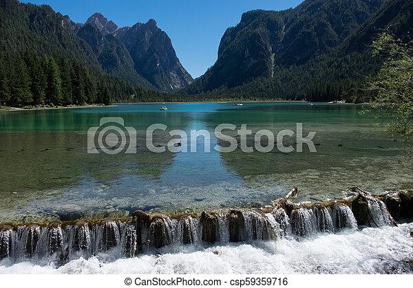 braies, lago, di - csp59359716
