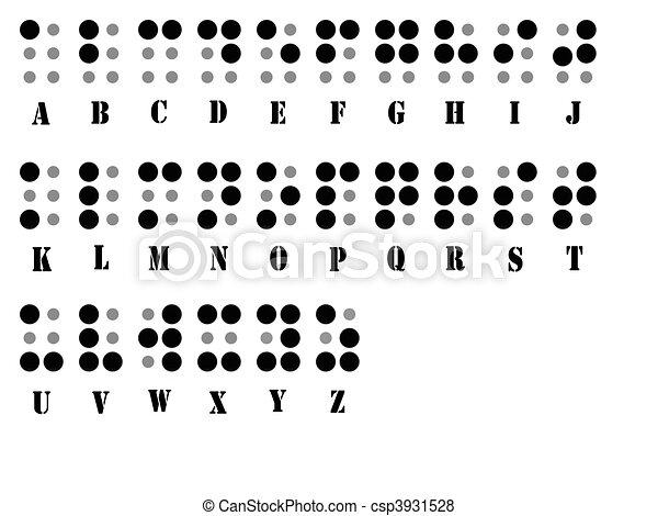 Braille, alfabeto, sistema. Braille, visualmente, alfabeto, personas ...