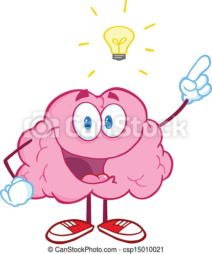 Brain Character With A Big Idea - csp15010021