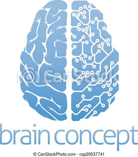 Brain circuit board concept - csp29537741