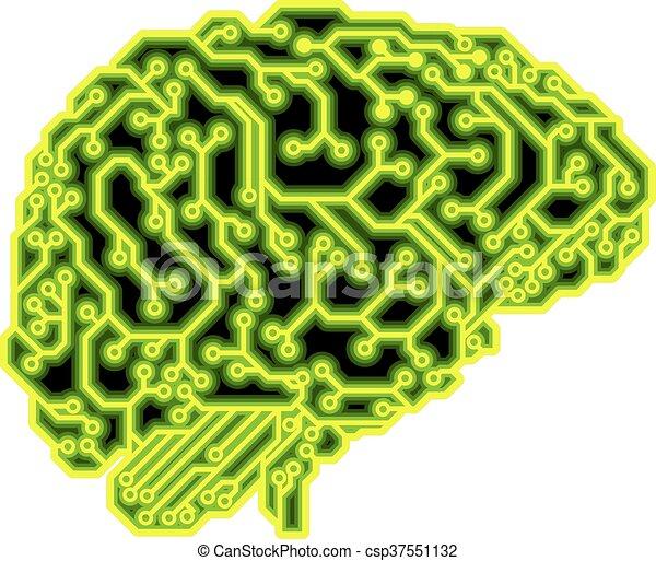 Brain Circuit Concept - csp37551132