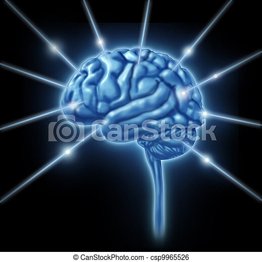 Brain connections intelligence - csp9965526