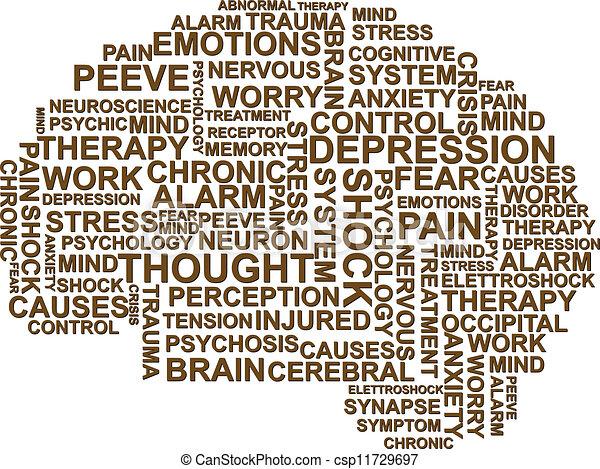 brain depression - csp11729697