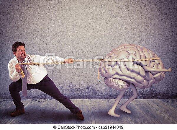 Brain drain - csp31944049