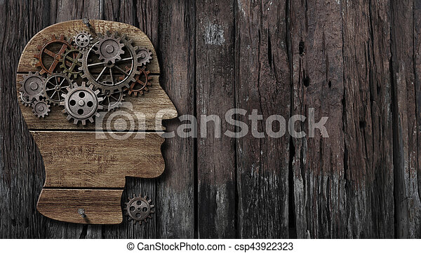 brain function, psychology, memory or mental activity concept - csp43922323